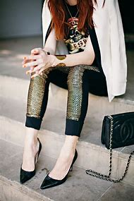 Black Gold Leggings