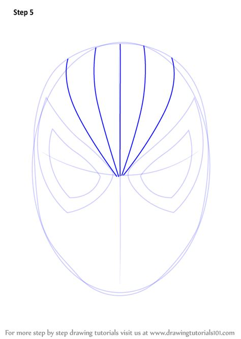 step  step   draw spiderman face