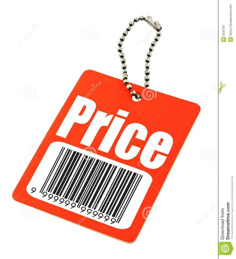 Price Tag With Fake Bar Code Stock Image - Image of