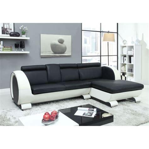 canapé d angle cuir noir et blanc object moved