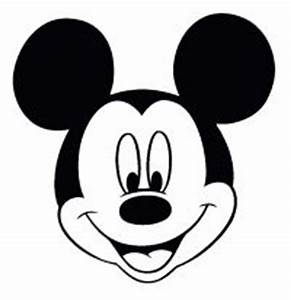 mickey mouse large printable cutouts can you guess where With mickey mouse face template for cake