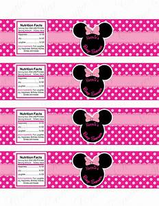 minnie mouse water bottle labels pelautscom places to With free printable minnie mouse water bottle labels