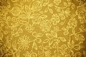 Gold Fabric with Floral Pattern Texture Picture | Free ...