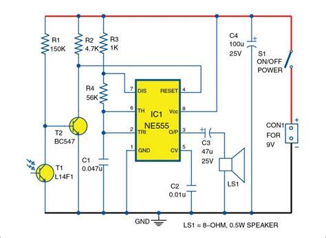 Light Sensitive Fire Alarm Diy Circuit Diagram With Full