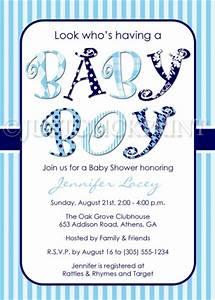 Look Whos Having a Baby Boy Baby Shower Invitation