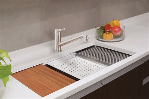 kitchen prep sink lenova ledge prep sink brings sleek style functionality 2465