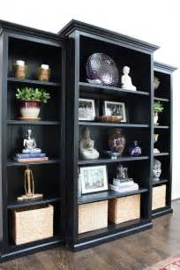 25 best ideas about black bookcase on decorating a bookcase bookshelf styling and