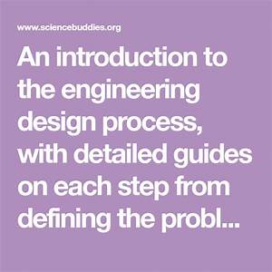 An Introduction To The Engineering Design Process  With