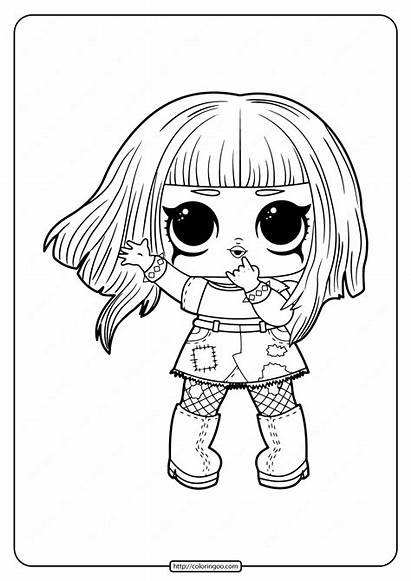 Lol Coloring Pages Dolls Printable Surprise