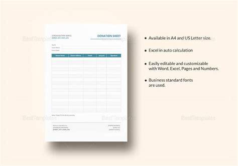 sample donation sheet templates  google docs