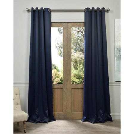navy blue blackout curtains exclusive fabrics navy grommet blue thermal blackout