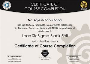 sample certificates lean six sigma india With six sigma black belt certificate template