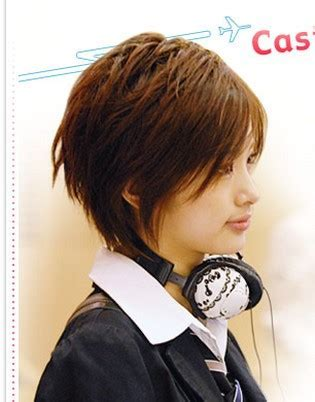 Trendy Asian Female Hairstyle With Layers