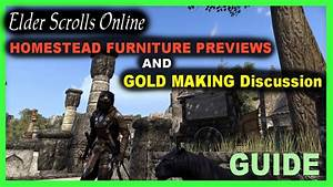 eso homestead furniture recipe previews and gold making With homestead furniture eso
