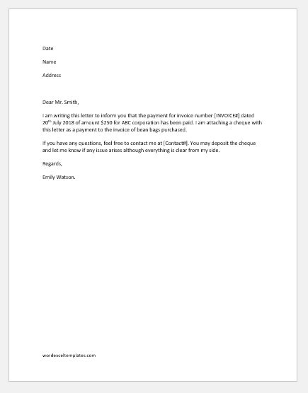 remittance advice letter template word excel templates