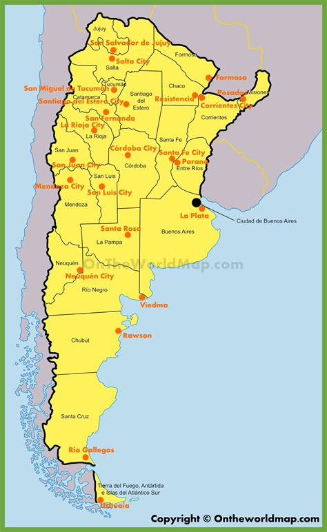 administrative map  argentina