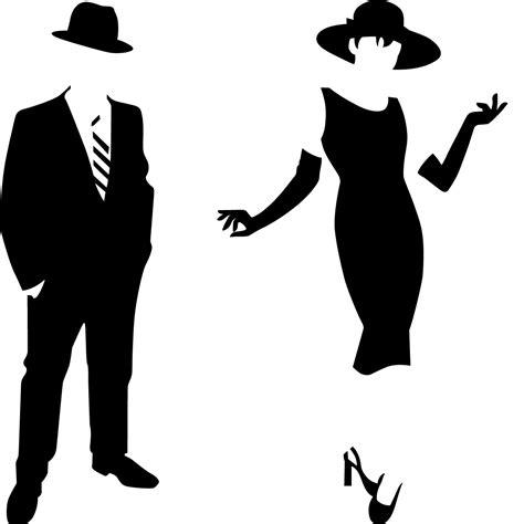 cuisine avec carreaux de ciment sticker silhouette homme et femme élégant stickers