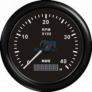 Kus Marine Boat Tachometer Lcd Hour Meter Tacho Rpm Gauge