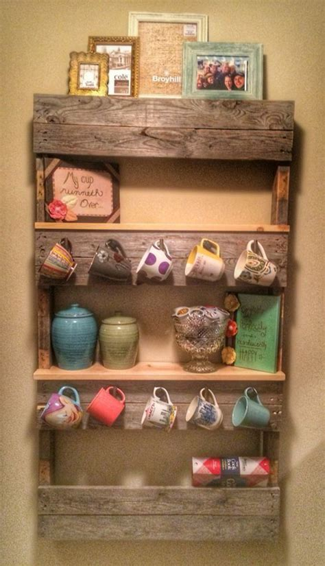 Product titlemug holder coffee tea cup rack storage kitchen under. 10 Best Mug Organization With Wooden Pallet Projects | House Design And Decor