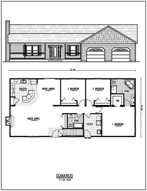 Design Your Home Floor Plan by Rectangular House Floor Plans Design Bedroom Bath House