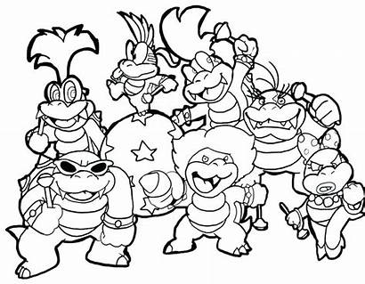 Mario Coloring Super Pages Maker Bros Printable