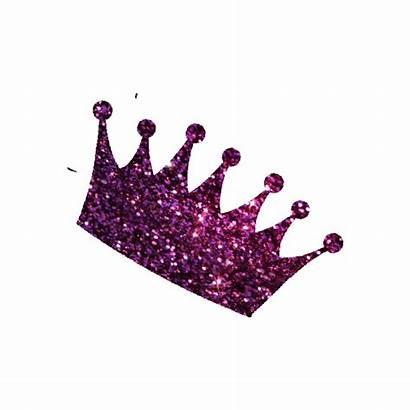 Crown Glitter Pink Clipart Sparkle Transparent Tiara