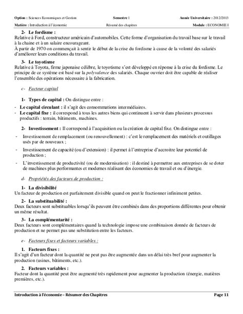 resume de introduction a l economie s1 introduction 224 l 233 conomie politique r 233 sum 233 s des chapitres