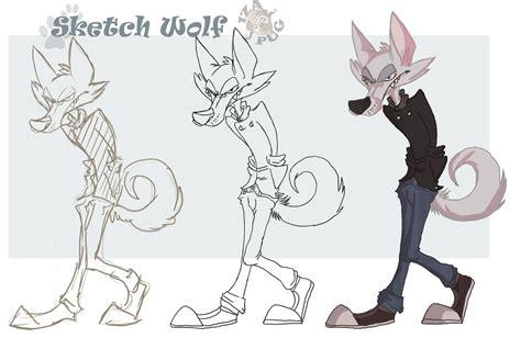 sketch cartoon wolf  izapug  deviantart