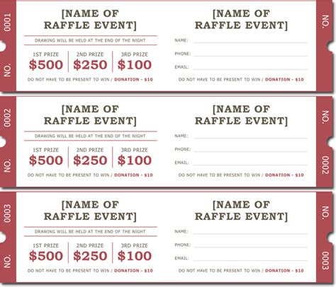 enter to win template 20 free raffle ticket templates with automate ticket numbering