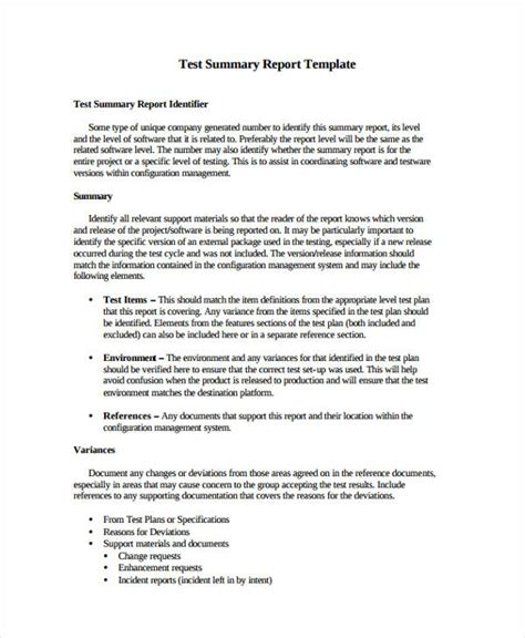 test report templates  word  format