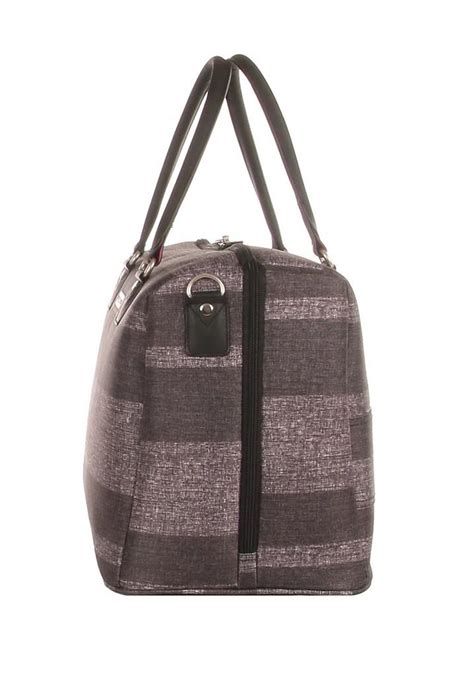 Vanity Luggage - highbury large travel vanity bag grey stripe