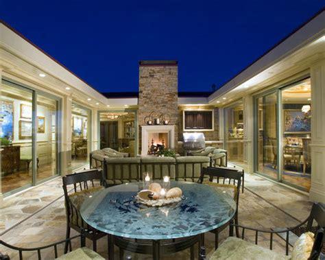 shaped house courtyard houzz