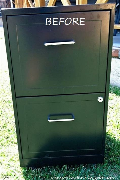 how to paint metal file cabinet file cabinet makeover
