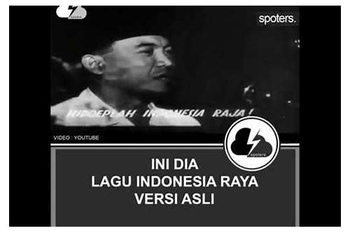 download lagu wajib indonesia raya asli