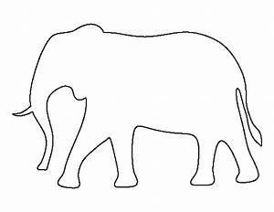 Elephant pattern use the printable outline for crafts for Elephant template for preschool