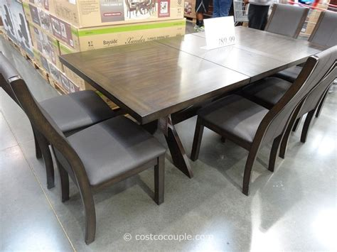 costco dining table in store bayside furnishings xander 7 piece dining set