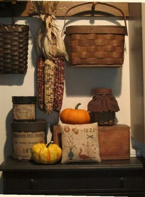 primitive decorating ideas for fall primitive display for autumn primitive gatherings