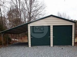 20x26x9 vertical garage two car metal garage structure With 20x26 garage