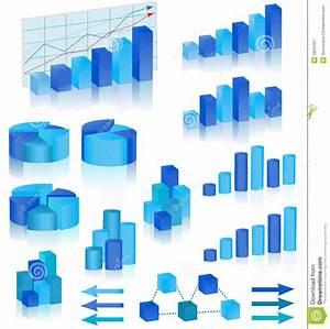Blue Diagrams Set Stock Vector  Illustration Of Blue