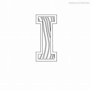 stencil letters i printable free i stencils stencil With letter stencils for wood
