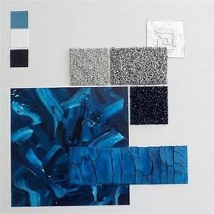 Tableau D École Mural : tableau mural abstrait bleu blanc argent g om trique un grand march ~ Melissatoandfro.com Idées de Décoration