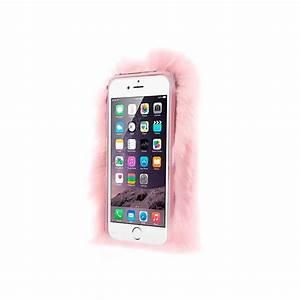 Coque Iphone 6 Rose Poudré : coque en fourrure rose clair ultra douce pour iphone 6 plus et 6s plus ~ Teatrodelosmanantiales.com Idées de Décoration