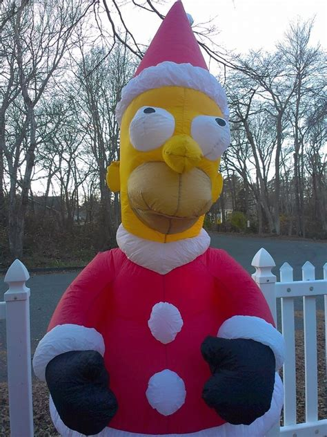 gemmy homer simpson santa christmas airblown inflatable
