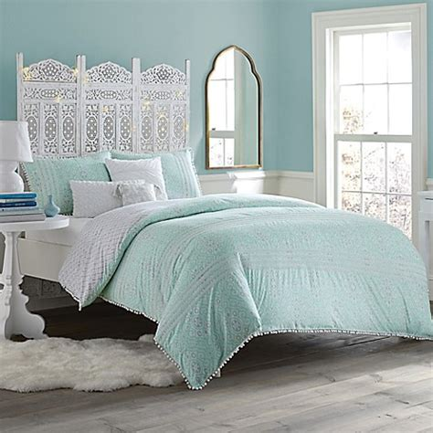 anthology bedding anthology moroccan party comforter set in mint green white bed bath beyond