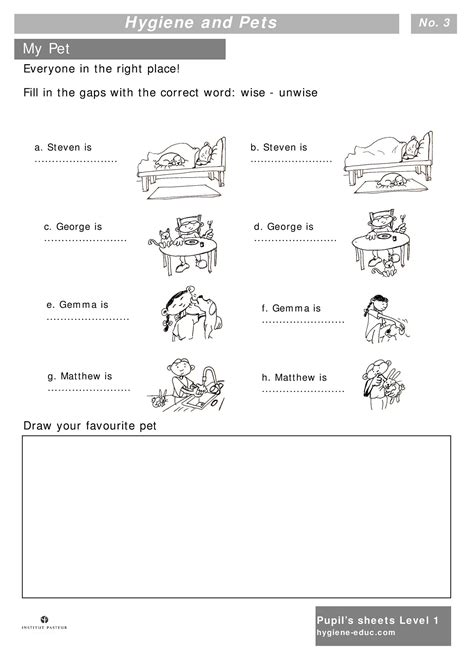 kindergarten worksheets germs them and try to solve
