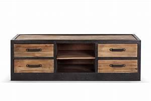 Meuble Tv Vintage : meuble tv bas industriel vintage bois et m tal meubles t l pinterest salons drawers and ~ Teatrodelosmanantiales.com Idées de Décoration
