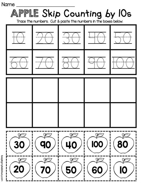counting and cardinality freebies skip counting