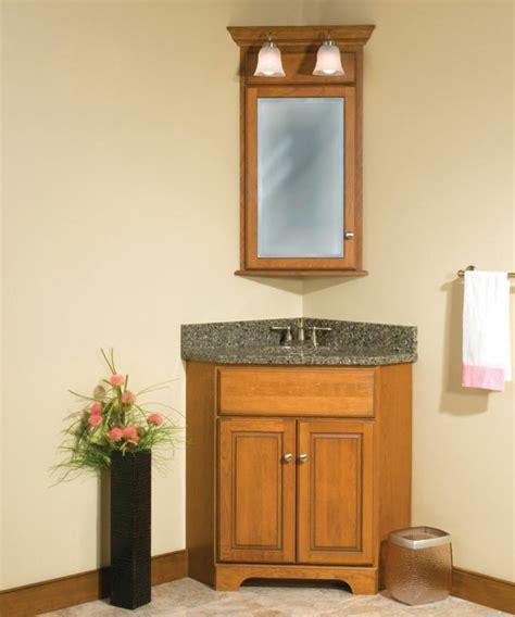 corner bathroom vanity giving unique effect  small