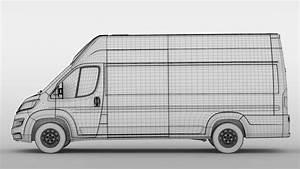 Citroen Relay Van L4h3 2017 3d Model