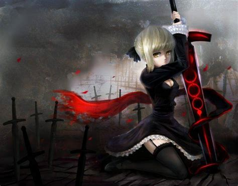 women anime saber alter fate series sexy anime